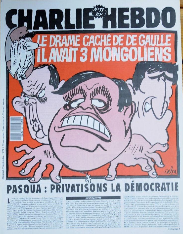 Charlie Hebdo - # 11 - 9 Septembre 1992 - Couverture : Cabu