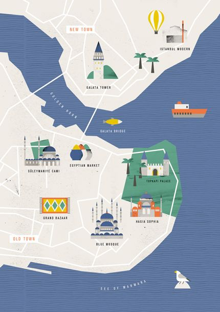 Illustration / Istanbul city guide