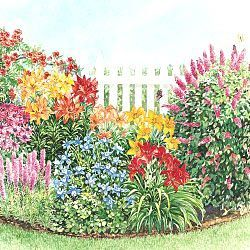 Flower Garden Design Plans peonies landscaping ideas photo gallery for perennial Hummingbird Garden Plans Lots Of Great Gardening Info At This Site