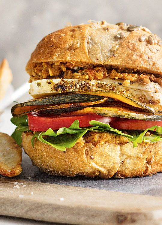 How to make Pumpkin & Haloumi Burgers