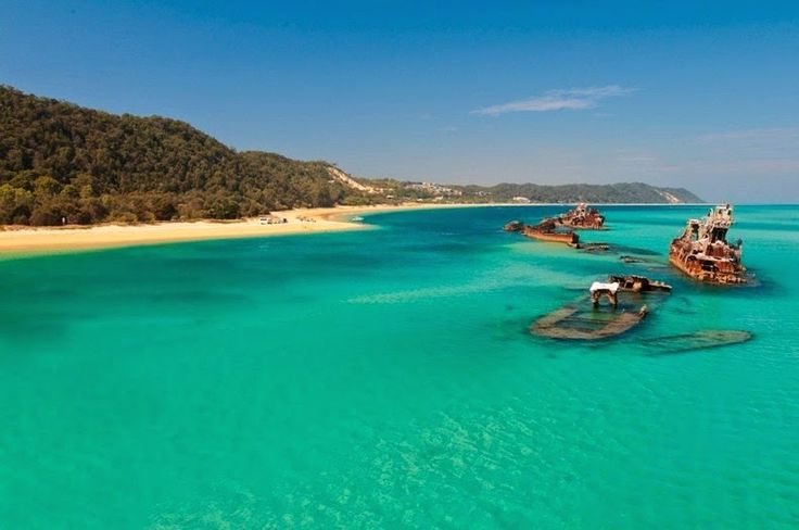 The ship wrecks of Tangalooma are located on the western side of Moreton Island near the township of Tangalooma, a former whaling station. Moreton Island is a large sand island - the third largest in the world - located on the coast of south-east Queensland, Australia, which together with Fraser Island, forms the largest sand structure in the world. (1)