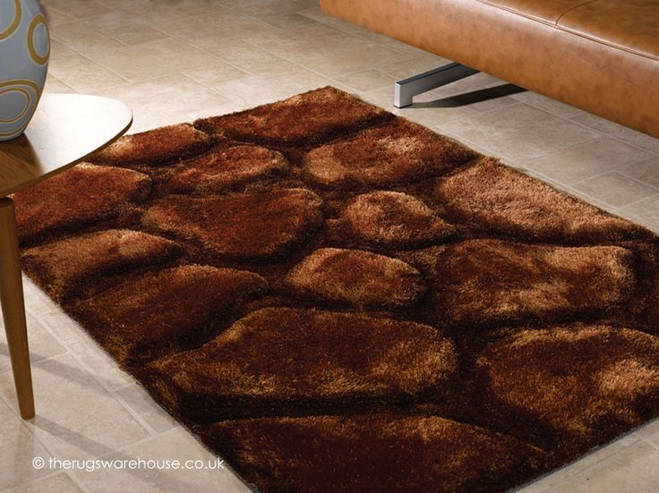 Brook Brown Rug, a super heavyweight carved shaggy rug  (handmade, 100% polyester) http://www.therugswarehouse.co.uk/brown-rugs/brook-brown-rug.html #rugs #interiors