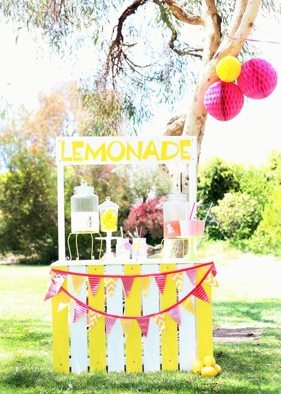 Lemonade Stand Photography Prop by SweetJellyParties on Etsy, $250.00 LOVE!!!