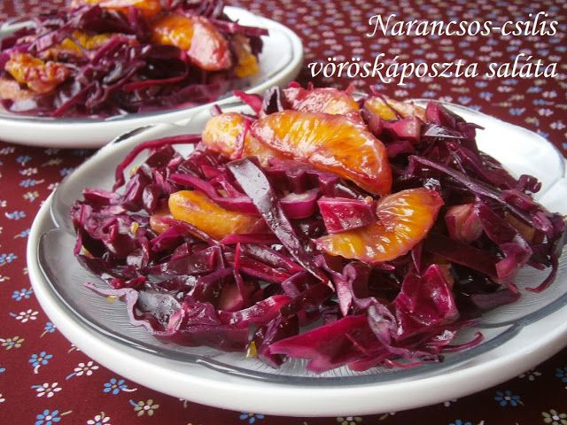 Hankka: Narancsos-csilis vöröskáposzta saláta