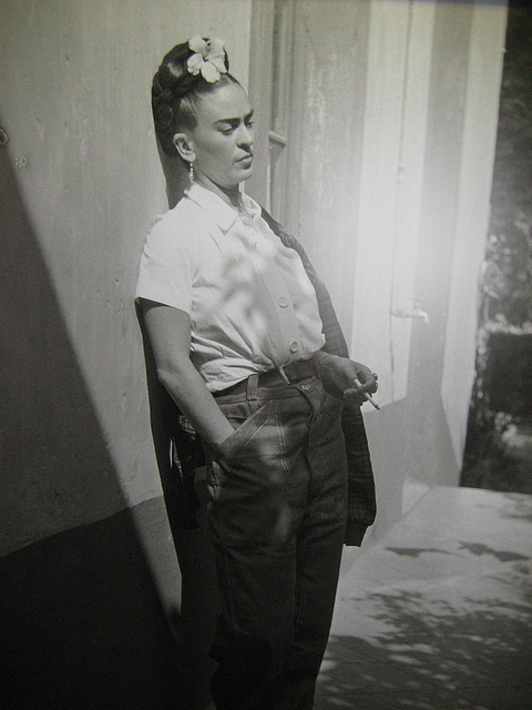 This is my favorite photo of Frida, I bought a copy of it on a trip to Mexico City and hadn't seen it anywhere else until now.