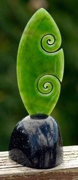 new life (koru) jade carving