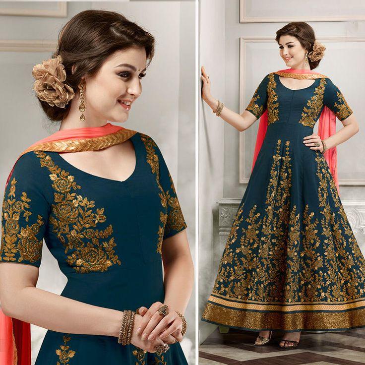 Wedding Anarkali Bridal Indian Clothes Bollywood Pakistani Designer Lehenga Suit #Shoppingover #SalwarKameez