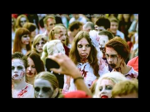 Зомби на Крестовском острове флэшмоб 16.08.2014