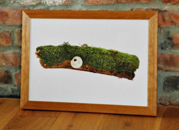 Poster moss; Plakat z unikalnej serii NATURE - MECH PŁONNIK pasuje do każdego wnętrza, nowoczesnego jak i tradycyjnego.