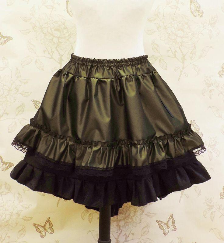 Verde oliva Steampunk falda falda gótica pirata de ropa de