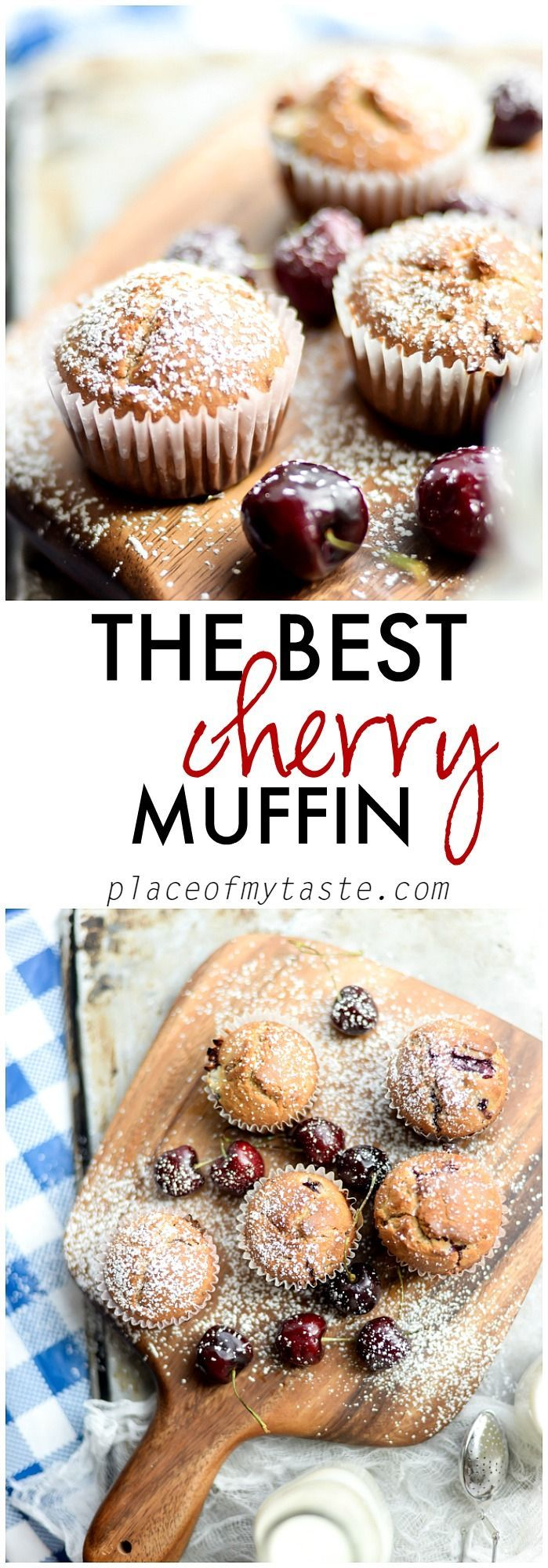 This is the best cherry muffin recipe! It's fluffy and not too sweet!