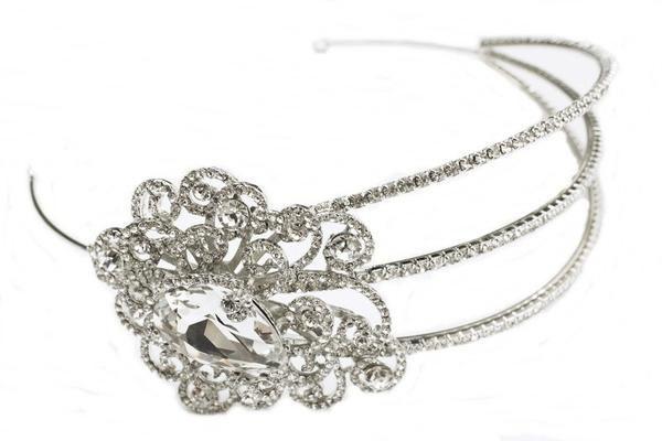 Valerie Vintage Style Crystal Headband