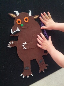 Build the Gruffalo with this adorable felt play set idea from And Next Comes L