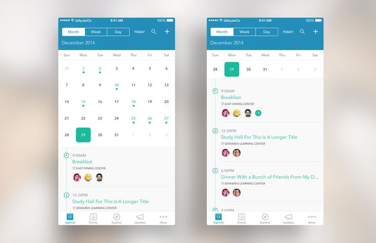 Calendar Revision For iOS App