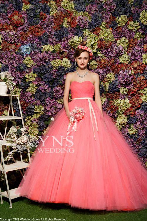 カラードレス オレンジドレス SR18145QPKの詳細画像