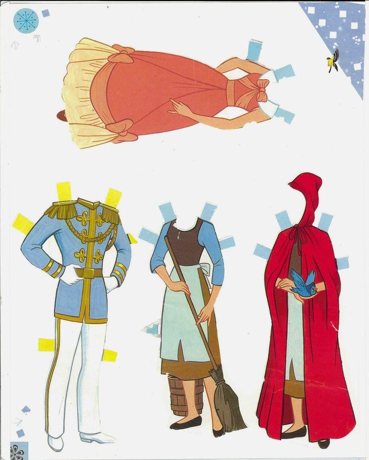 Figurettes - Zespół Aspergera lalki miniaturki zapiski Mamy Aspika: Papierowe Lalki - Ksieżniczki Disney'a- Disney Paper Dolls