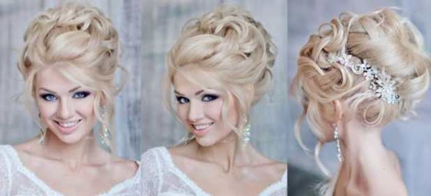 """Bridal hairstyles for long hair Smooth hair tail раздвигаются in the country. Lightly mellowing from the center of the sample in combination with braids, setting the hair at the back of the head. All hairstyles are appropriate for this face form. Romantic and light low """"ray"""" smoothing of sharp features. Classic top """"knot"""", """"knot"""".  Wave-free hair with a deep sample on her shoulder. Long freedom hair hair down. Long straight hair, divided in the right way (on the hair). The hair gets on one side"""