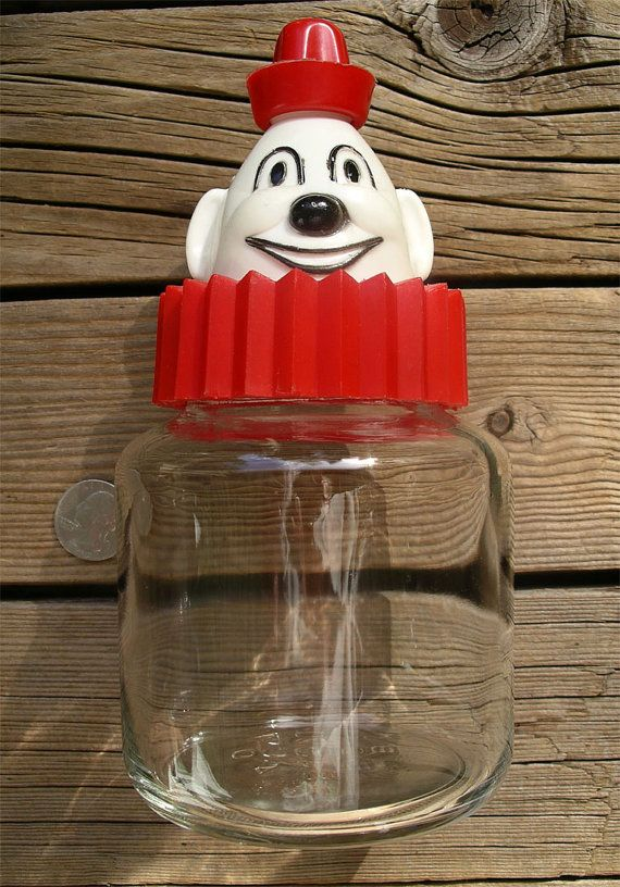 Vintage Bosco Chocolate Syrup Dispenser - Figural Clown ...
