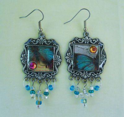 jewerly: Art Jewerly, Color Combos, Crafts Earrings, Butterflies Wings, Butterflies Earrings, Earrings Crafts, Wings Earrings, Jewerly Crafts Idea, Beauty Earrings
