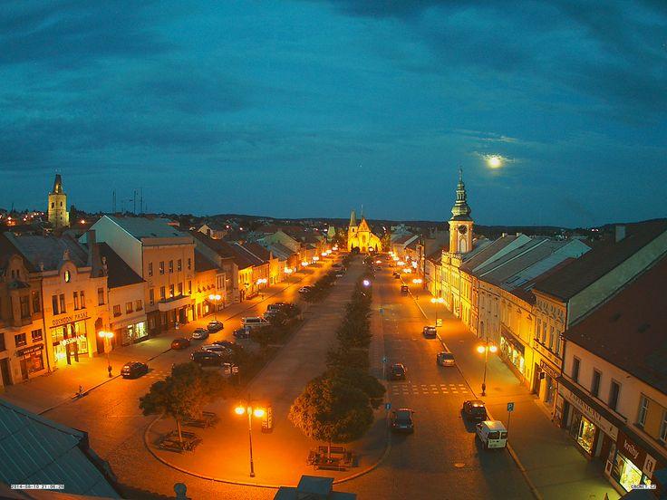 Rakovnické náměstí a Chrám sv. Bartoloměje ve městě Rakovník, Středočeský