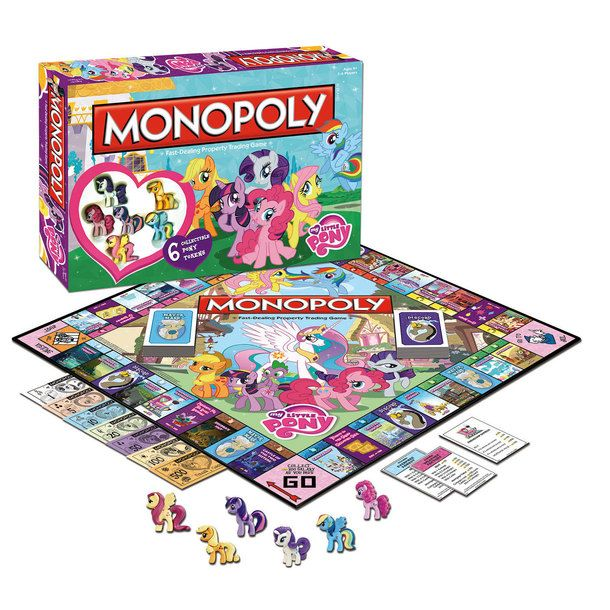My Little Pony Monopoly - I saw this one at Barnes and Nobles... I only wish they had the old school my little ponies... the new ones look kinda derpy... >.