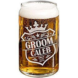 Personalized SINGLE Crown Groomsmen Gift 16oz Beer Can Wedding Day Gift Bachelor Favors Usher Best Man Father of the Bride Grooms Gift