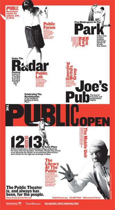 The Public Theater 2012-13 Season Campaign - Paula Scher (Pentagram)