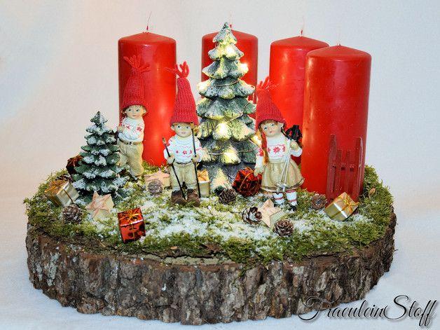 adventsgesteck adventskranz ein liebevoll. Black Bedroom Furniture Sets. Home Design Ideas
