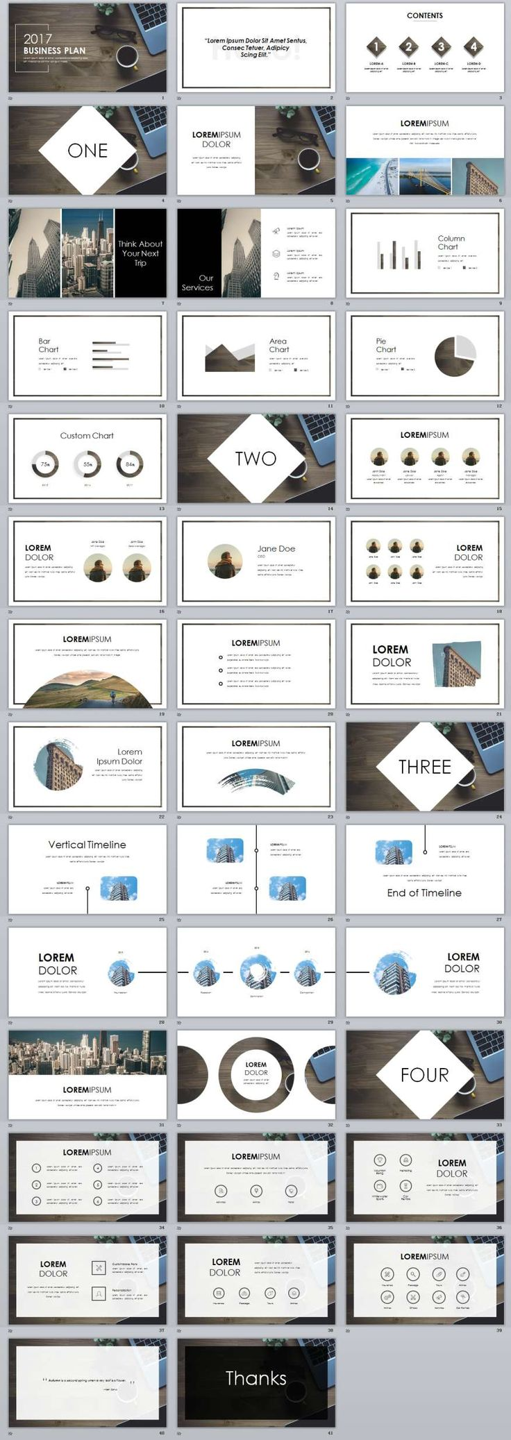 56 best 2018 business powerpoint templates images on pinterest 40 white business plan powerpoint template toneelgroepblik Gallery