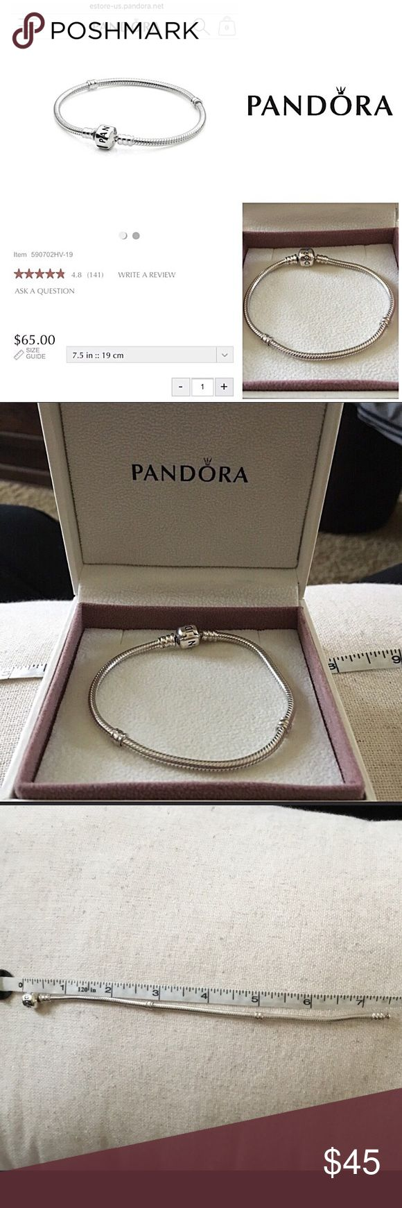 Pandora Bracelet + BOX  100% Authentic Iconic BUNDLE DISCOUNT ONLY   Authentic Pandora Iconic Barrel Clasp Bracelet INCLUDES Bracelet Box  Purchased at our Pandora store  Authentic and genuine The clasp is nice and tight-it was rarely worn  Sold individually- NO charms/props included   1st photo contains images from the web for information   All charms sold separately - all pouches, boxes ect not included  Smoke Free Home Hypoallergenic Pet Friendly-We Have a Morkie   I Videotape Sales as I…