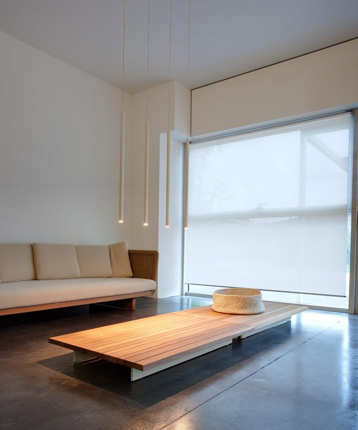 window shadow reference interior w/ pendant lights Miss Led designed by Omar Carraglia 2006 for Davide Groppi