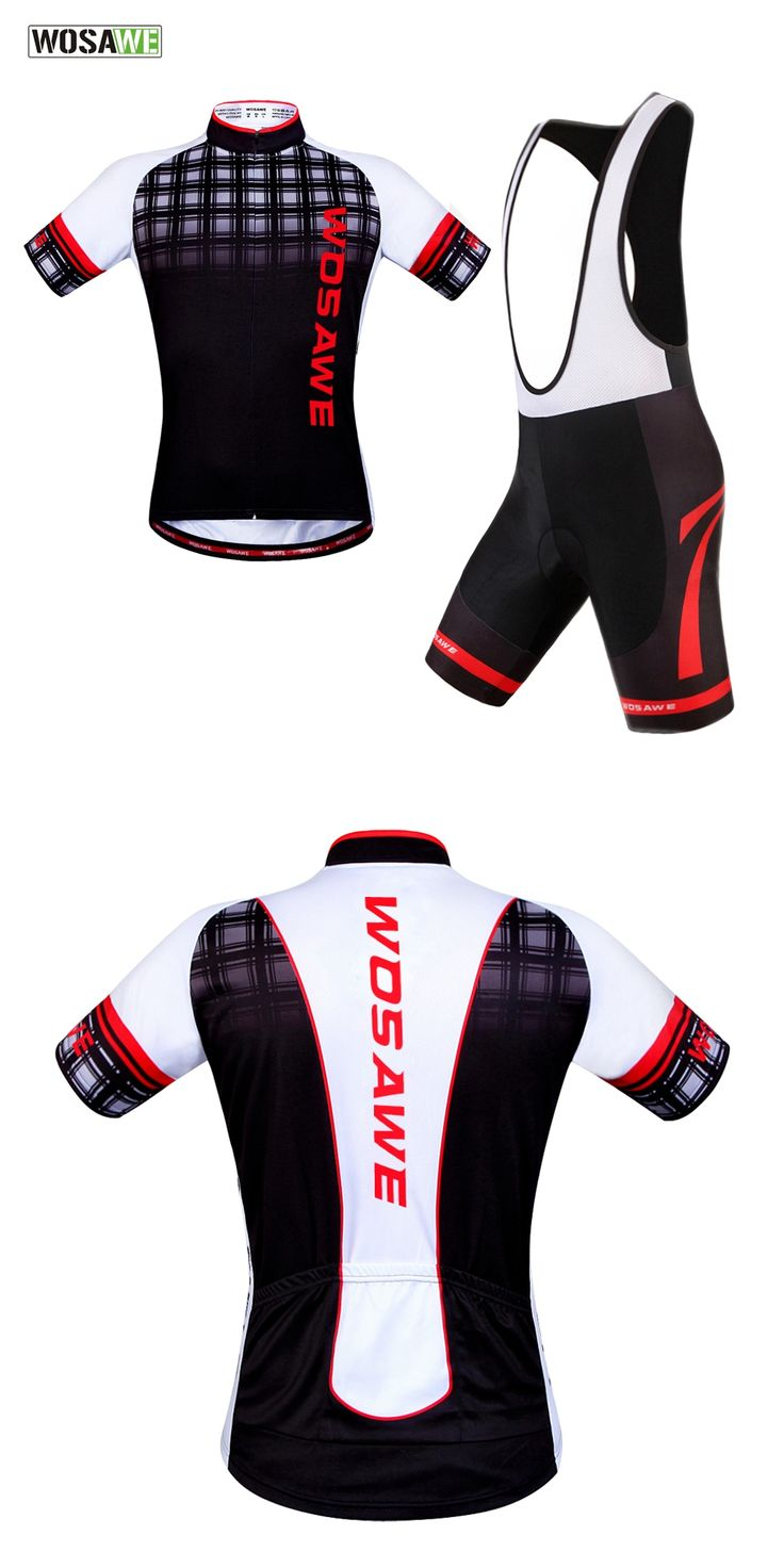 WOSAWE Cycling Jersey Bike Bib Shorts set Ropa Ciclismo quick dry mens pro cycling wear bicycle Maillot clothing