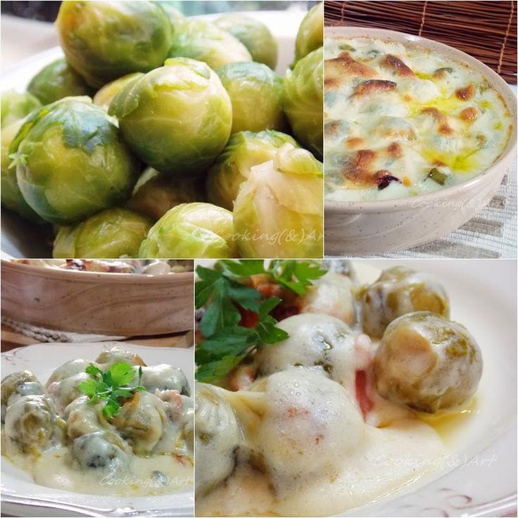 Λαχανάκια Βρυξελλών ογκρατέν με γιαούρτι, τυριά & μπέϊκον !!