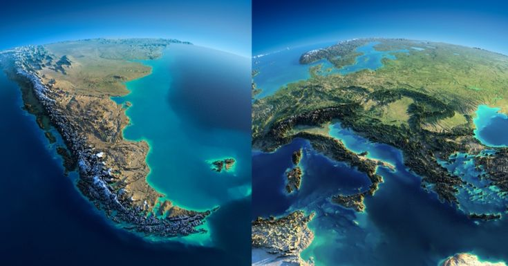 Fascinating Relief Maps Show the World's Geography – Earthly Mission