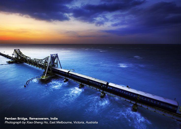 Pamban Bridge, Rameswaram, India, by Xiao-Sheng Ho. First Prize winner in the 2013 ASCE Bridges Photo Contest!