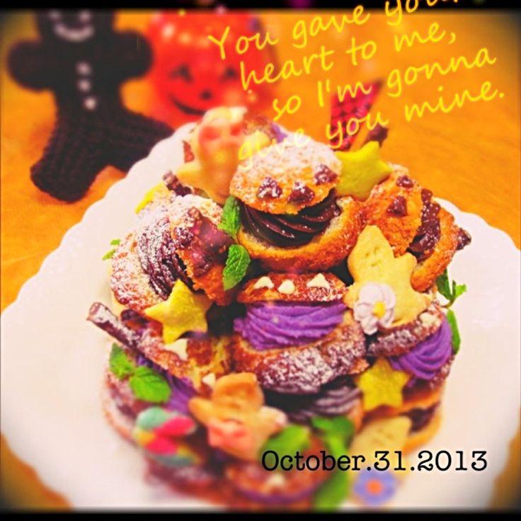 ハロウィンクロカンブッシュ by haruka at 2013-10-31