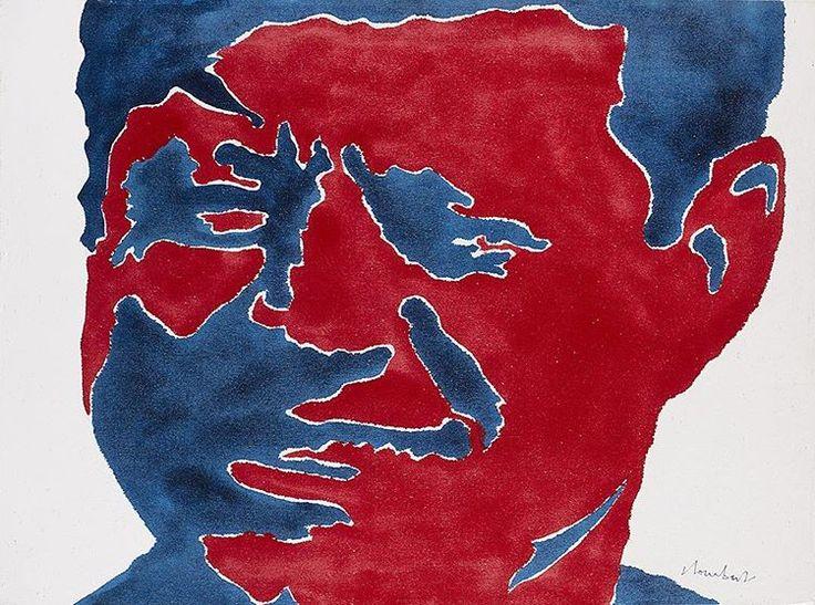 """"""" Subito dopo la mostra alla Tartaruga, nell'aprile del 1963, iniziai a dipingere facce, soprattutto di uomini politici [...] con smalti industriali colorati. La sagoma non riproduceva più il profilo esterno della figura, ma quello delle zone interne del volto. Erano due regioni, o due paesi di una carta geografica [...] Ne derivarono  immagini molto particolari, perché si riconosceva chiaramente il personaggio rappresentato, ma erano ancora rigorosamente automatiche nella procedura…"""