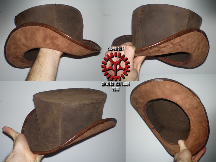 Steam Punk Leather Tophat 02 by ~Steam-HeART on deviantART