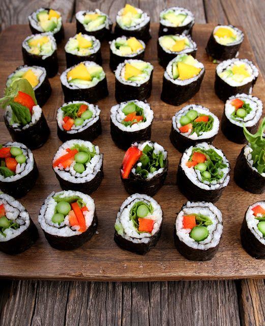 Oppskrift Vegansk Hjemmelaget Sushi Maki Vegetarsushi Fiskefri