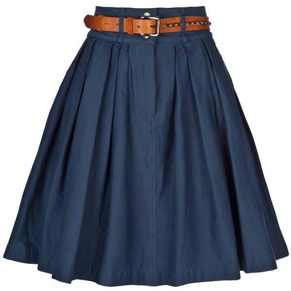 PREEN LINE 'Bianca' skirt (575 BRL) ❤ liked on Polyvore featuring skirts, bottoms, saias, faldas, women, pleated skirt, blue a line skirt, blue pleated skirt, preen skirt and pleated a line skirt