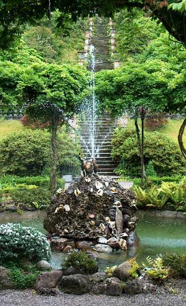 The Famous Steps In The Gardens Of Bantry House In West Cork, Ireland.