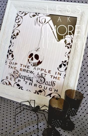 Chic Halloween! Absolutely love it!! ~Hocus Pocus~Poison Apple!