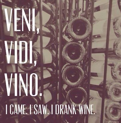 I came. I saw. I DRANK WINE!