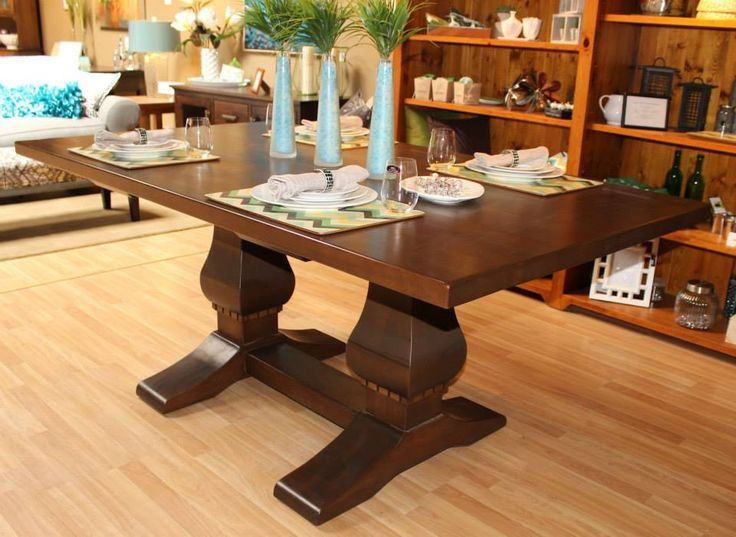 "40% OFF! Urban Country Collection U101WMS 42"" x72"" Trestle Table, Maple Stained American Walnut 42""w x 72""l x 30.5""h Reg. 5100.00 40% OFF Sale $3060.00"
