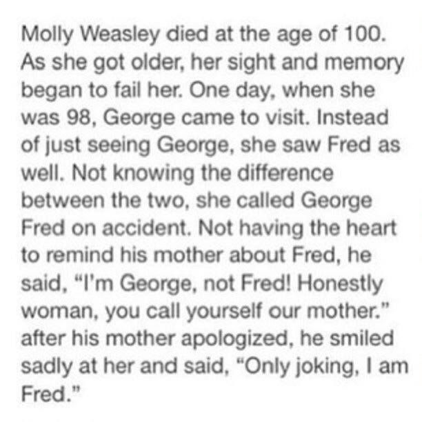 :( Stop breaking my heart. Oh my feels! Molly reaching old age...