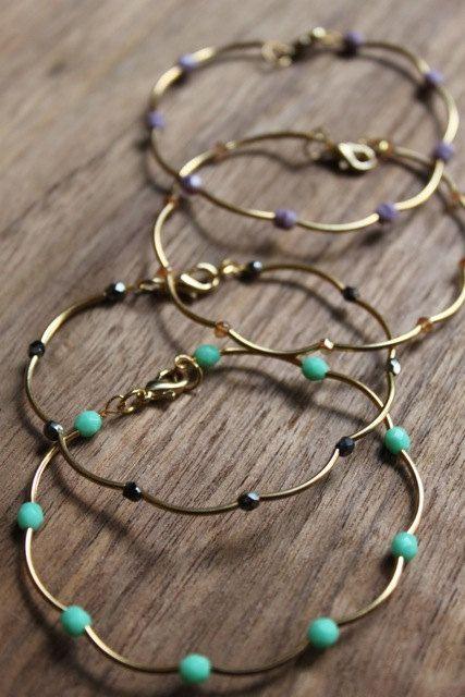 Delicate Beaded Gold Bracelet