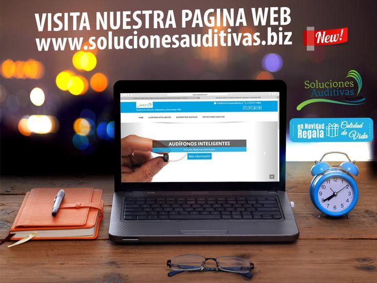 VISITA NUESTRA NUEVA PAGINA WEB! allí encontraras todo que necesitas para tu audición WWW.SOLUCIONESAUDITIVAS.BIZ