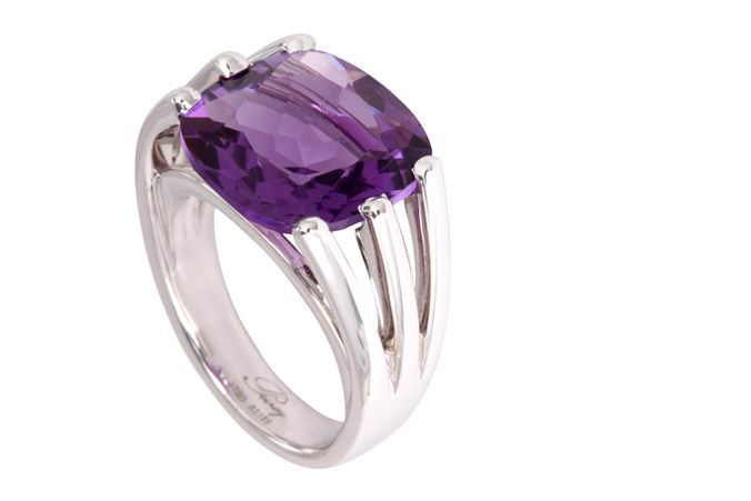 poiray amethyst ring