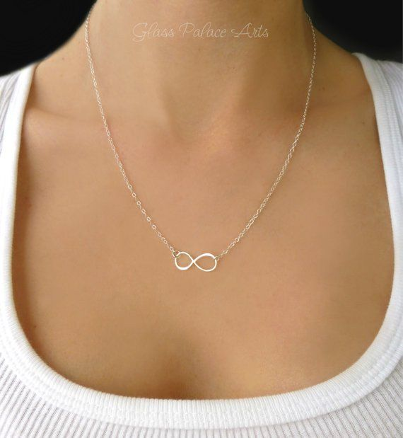 A dainty infinity necklace makes the perfect necklace to wear everyday. - Infinity loop is 925 Sterling Silver, or 24k gold vermeil (sterling silver dipped in 24k gold) - Infinity connector measures 1
