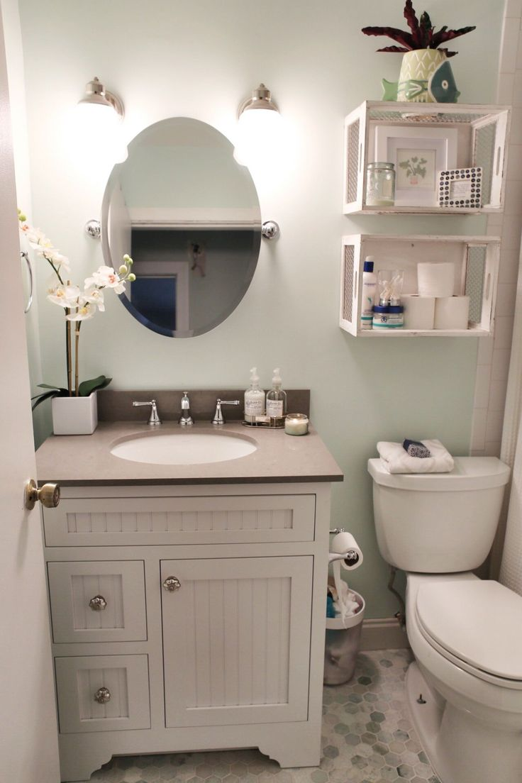 White Vanities For Small Bathrooms Part - 40: Small Bathroom Renovation With Before And After Photos
